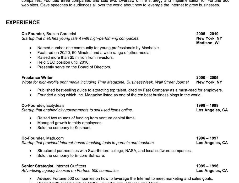 93 astounding a great resume examples of resumes hold on great ...