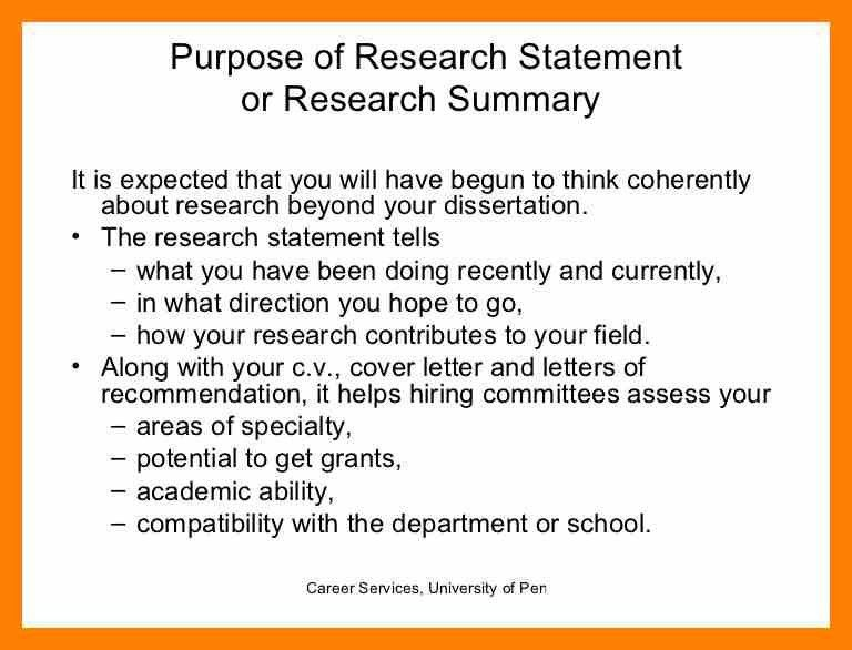 Research Interest Statement | Best Business Template