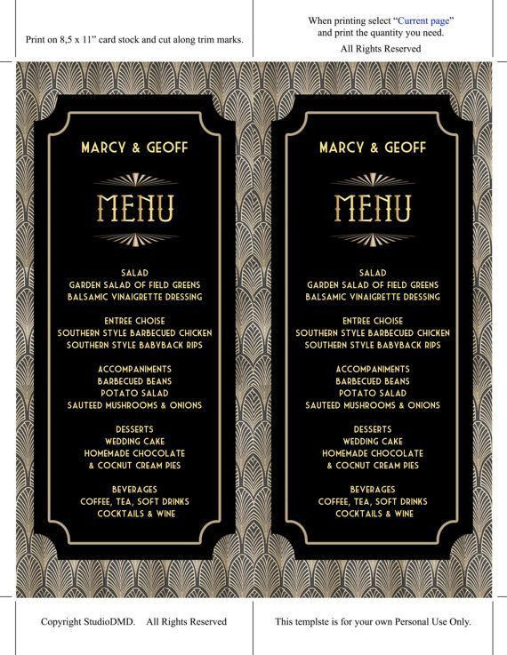 The 25+ best Menu card template ideas on Pinterest | Free menu ...