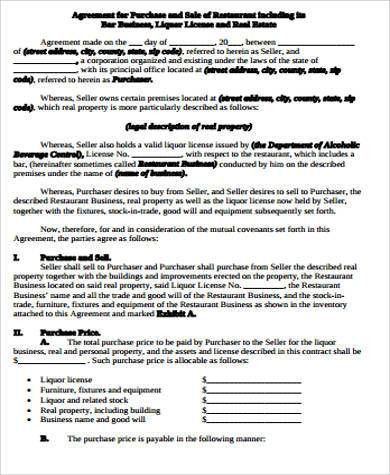 Business Purchase Agreement Sample - 7+ Free Sample, Example ...
