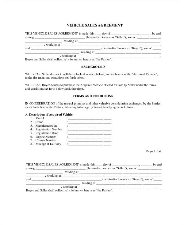 Purchase and Sale Agreement - 10+ Free PDF Documents Download ...
