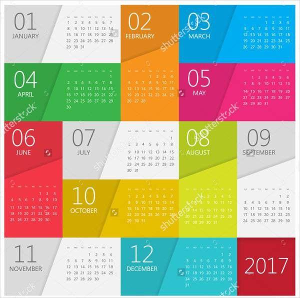 Photo Calendar Template - 12+ Free Sample, Example, Format | Free ...