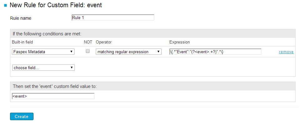 Basic Report Example: Faspex Metadata