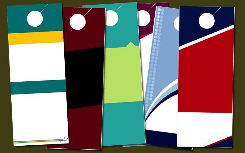 Blank Door Hanger Template - Templates for Microsoft® Word