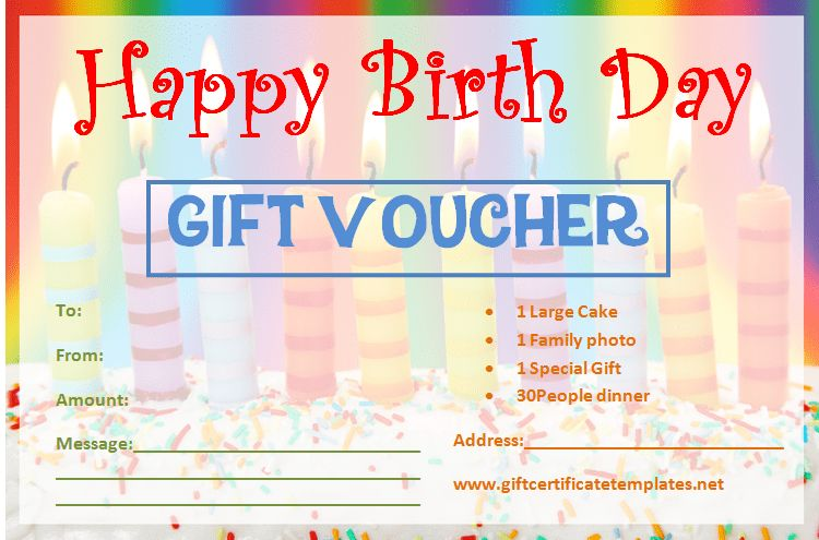 Birthday Gift Certificate Templates by www ...