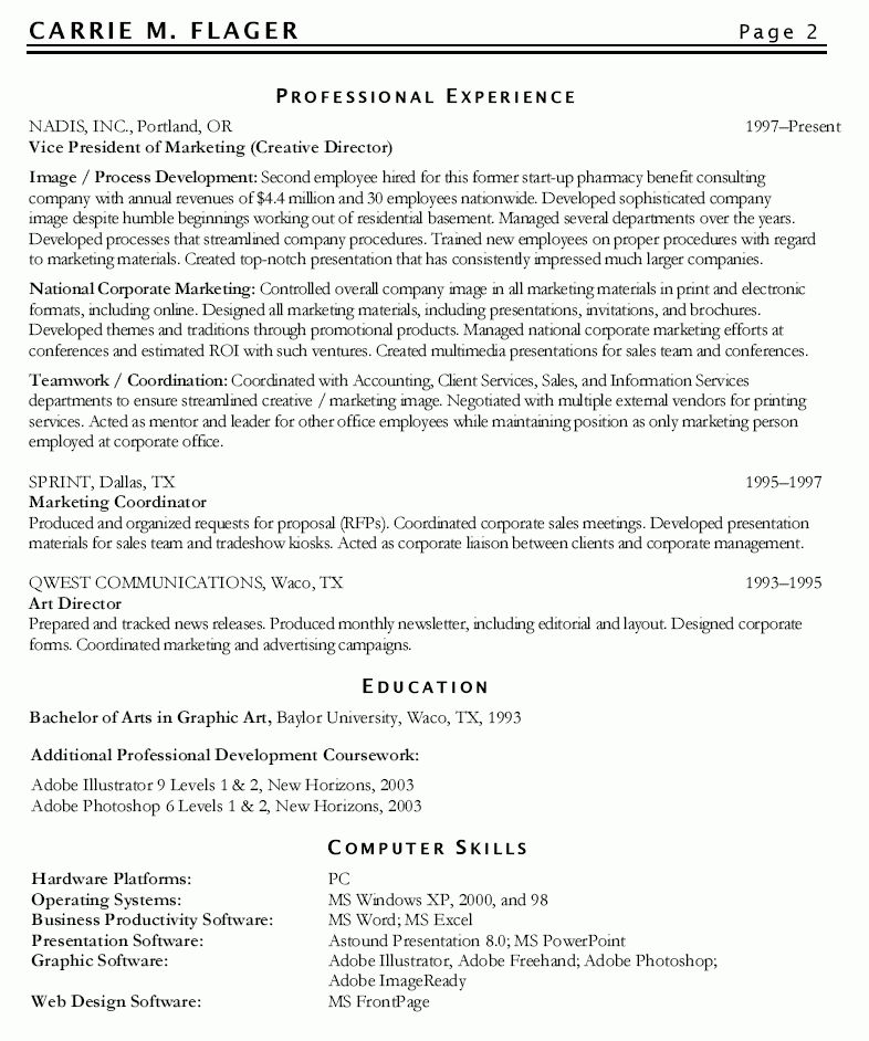 marketing resume format - Writing Resume Sample | Writing Resume ...