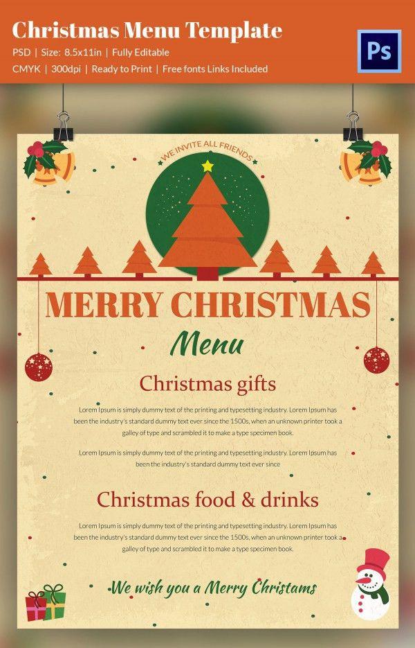 30+ Christmas Menu Templates - Free Sample, Example Format ...