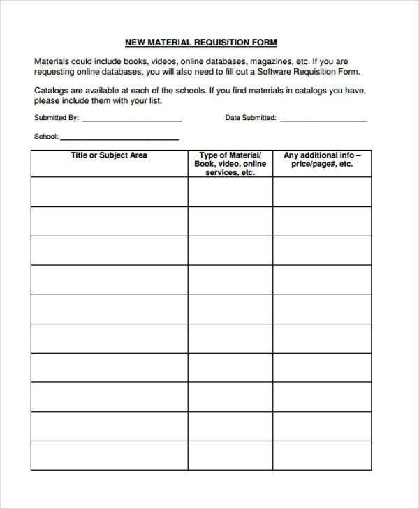 Requisition Form Example. Employee Time Sheet Personnel U0026 Hr Forms .