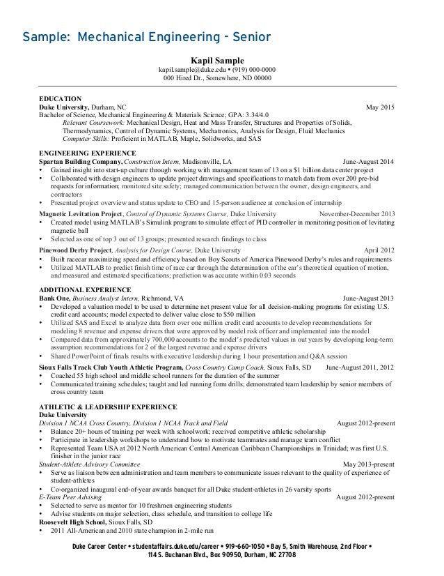 Undergraduate Student Resume Collection