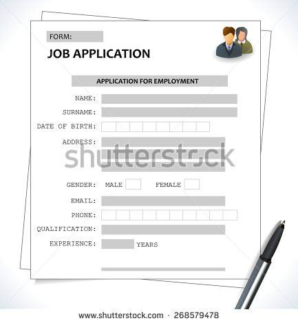 Job Application Form Stock Images, Royalty-Free Images & Vectors ...