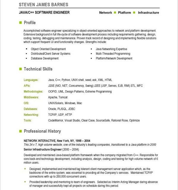 10+ Android Developer Resume Templates - Free PDF, Word, PSD