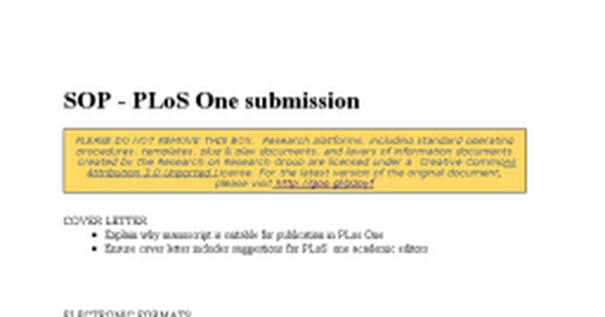 SOP - PLoS One submission - Google Docs