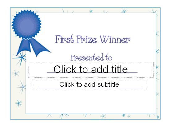 Second Prize Certificate Template | Certificate Templates