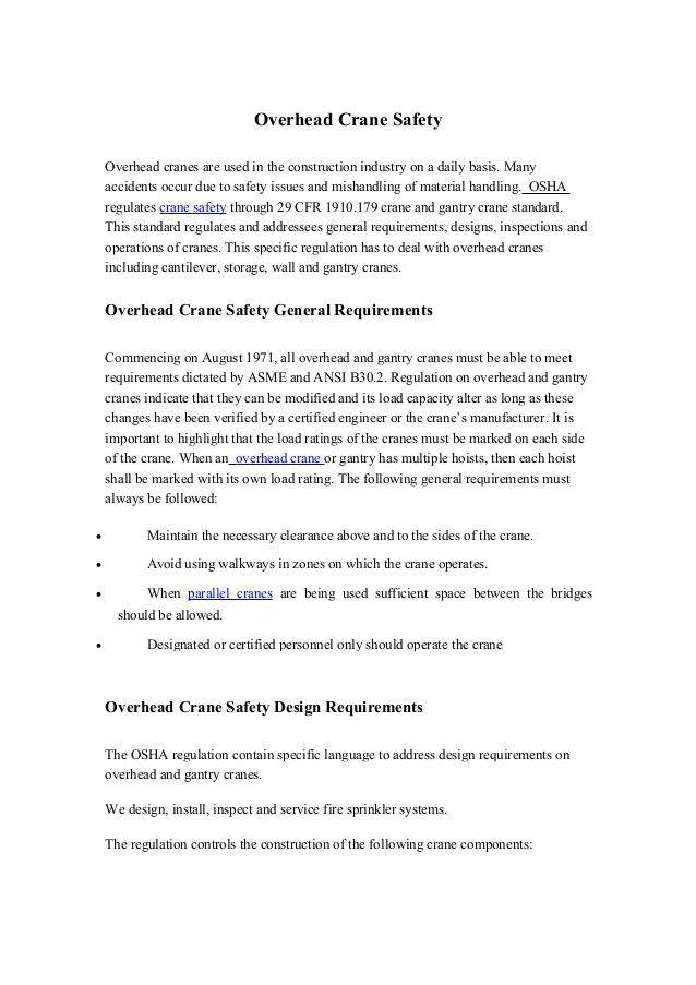 Overhead Crane Operator Resume Choice Image - resume format examples