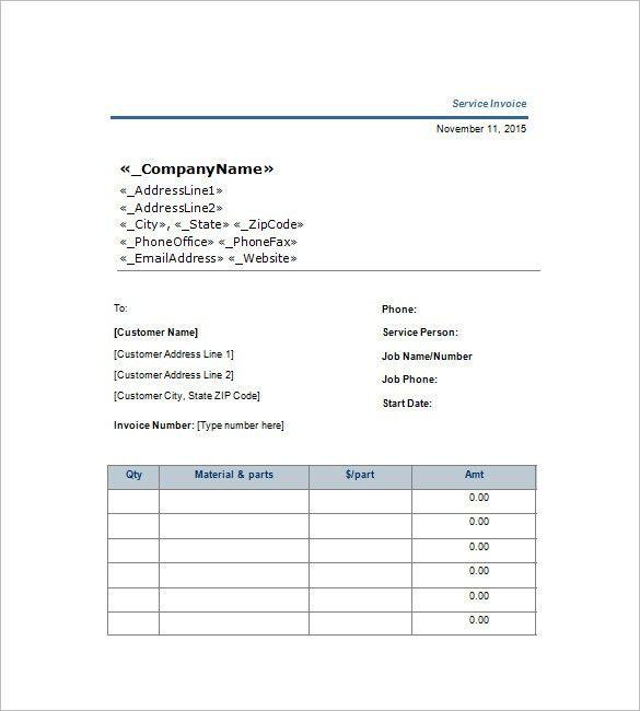 Download Job Invoice Template Word | rabitah.net