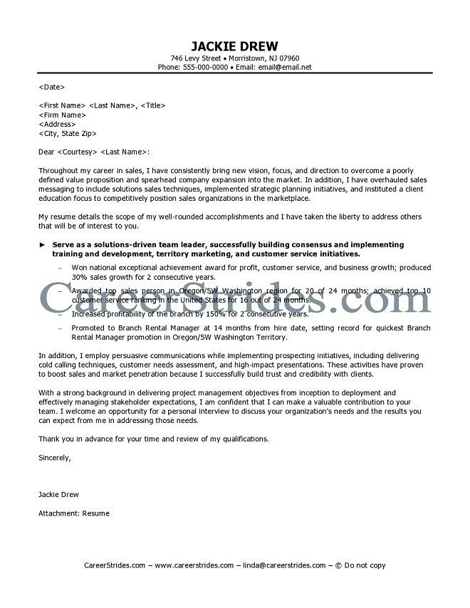 Sales Cover Letters. Account Manager Cover Letter Sample Account ...