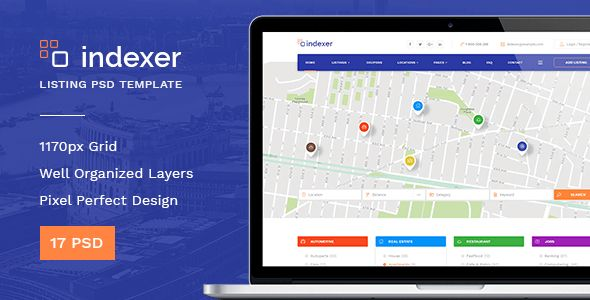 Indexer — Universal Directory Listing PSD Template by torbara ...