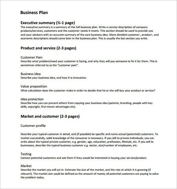 Business Plan Template - 10+ Free Samples, Examples, Format