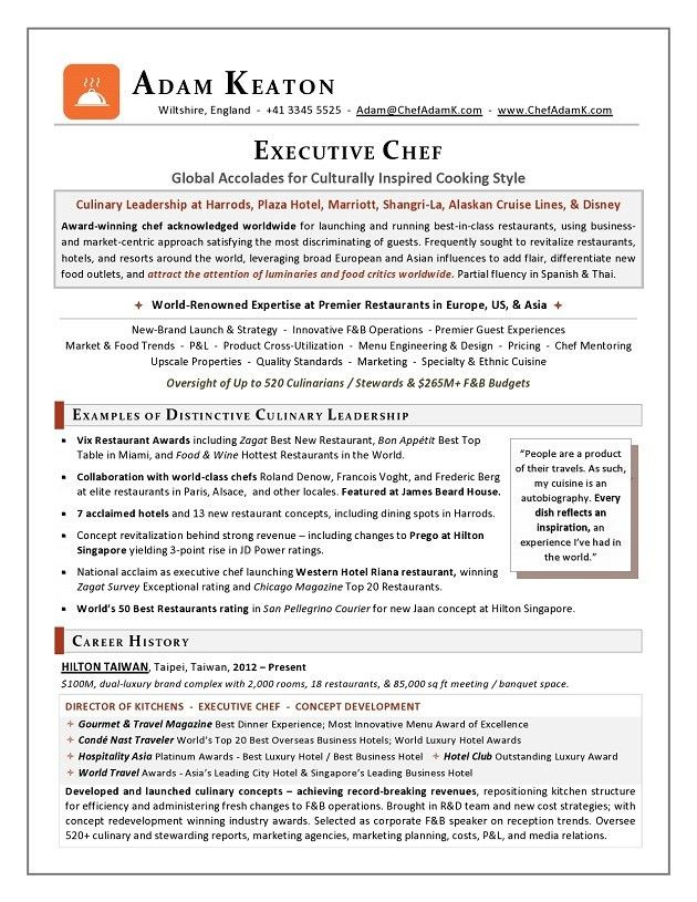 Download Executive Chef Resume | haadyaooverbayresort.com