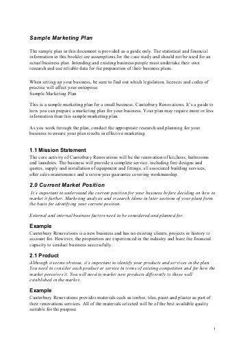 market plan example - thebridgesummit.co