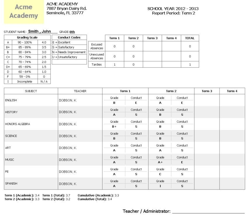 Printable Student Report Cards | Student Report | Pinterest ...