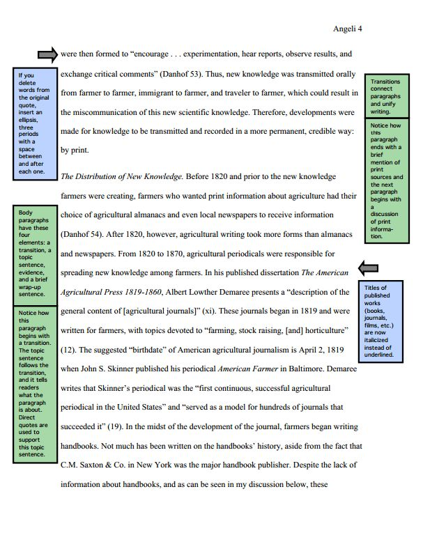 MLA Sample Paper from OWL Purdue - English Education & English ...