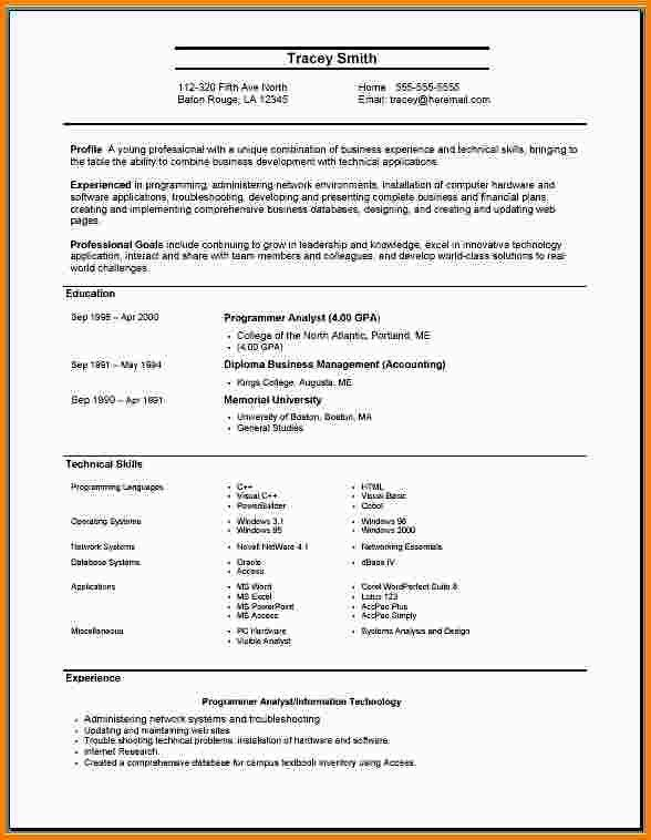 Sample Resume Format For Job Application. 25+ Best Ideas About ...