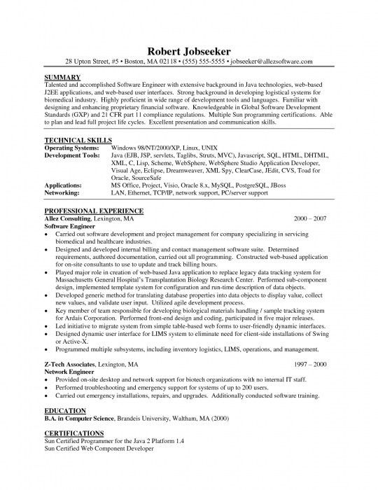 Android Developer Resume [Template.billybullock.us ]