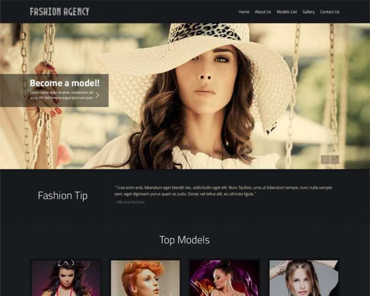Model Agency Website Templates || Free & Premium | Creative Template