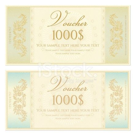 Voucher / Coupon / Gift Certificate Template (banknote, Money, C ...