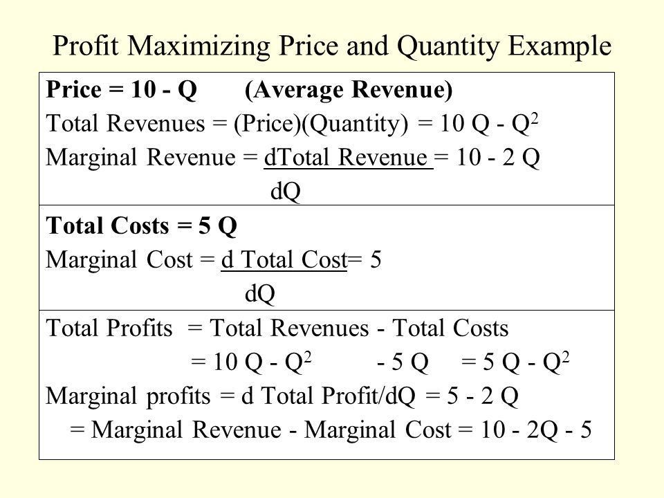 Chapter 2 Marginal Analysis and Optimization Techniques - ppt ...