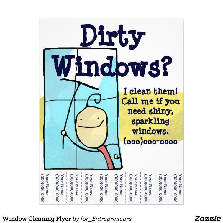 Window Cleaning Flyer Template. cleaning services flyer template ...