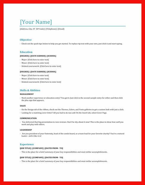 sample resume for hostess | apa example