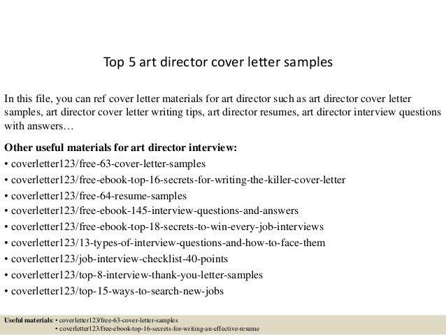 art director cover letter
