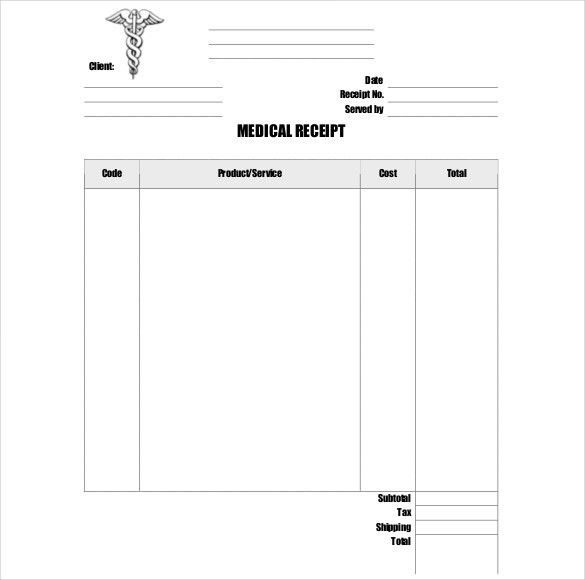 15+ Doctor Receipt Template - Free Word, PDF Documents Download ...