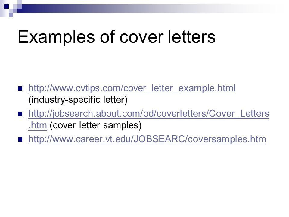 virginia tech career services cover letter. sample education cover ...