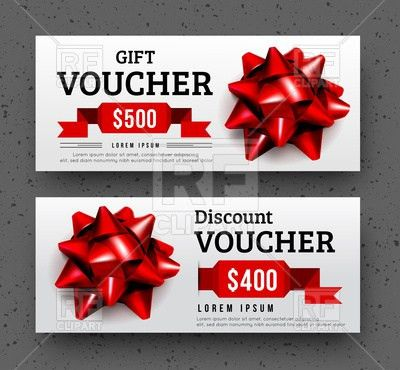 Abstract gift voucher design template Vector Image #107068 – RFclipart