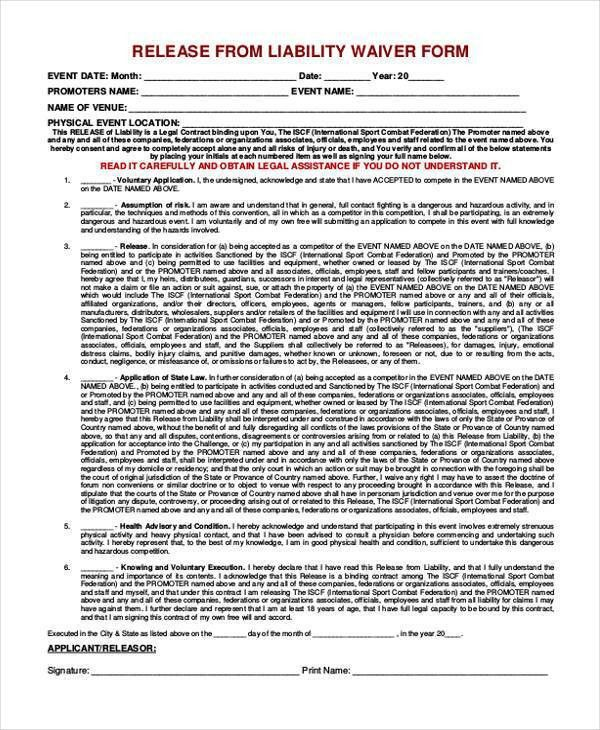 7+ Legal Release Form Samples - Free Sample, Example Format Download