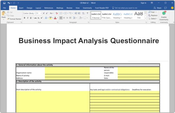 ISO 22301 Business Impact Analysis (BIA) Toolkit   27001Academy