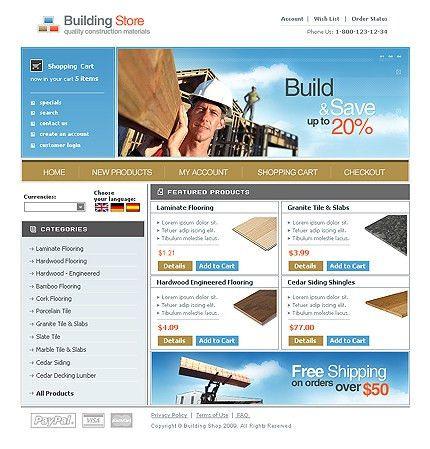 Website Template #23978 Online Shop Building Custom Website ...