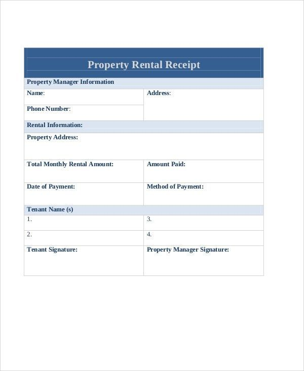 9+ Rent Payment Receipt - Examples in Word, PDF