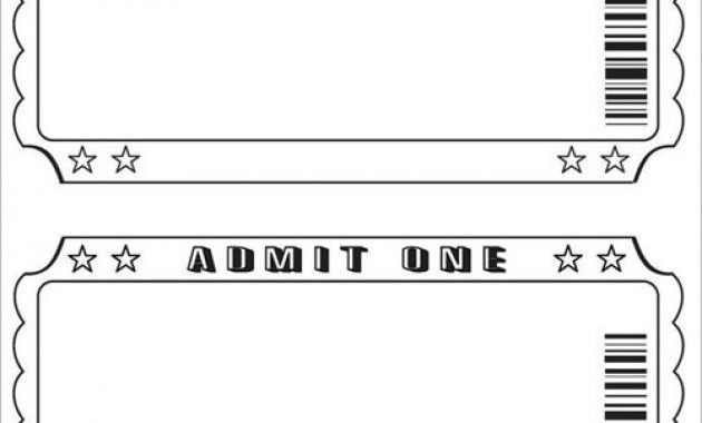 Editable Movie Ticket Template pertaining to Editable Ticket ...