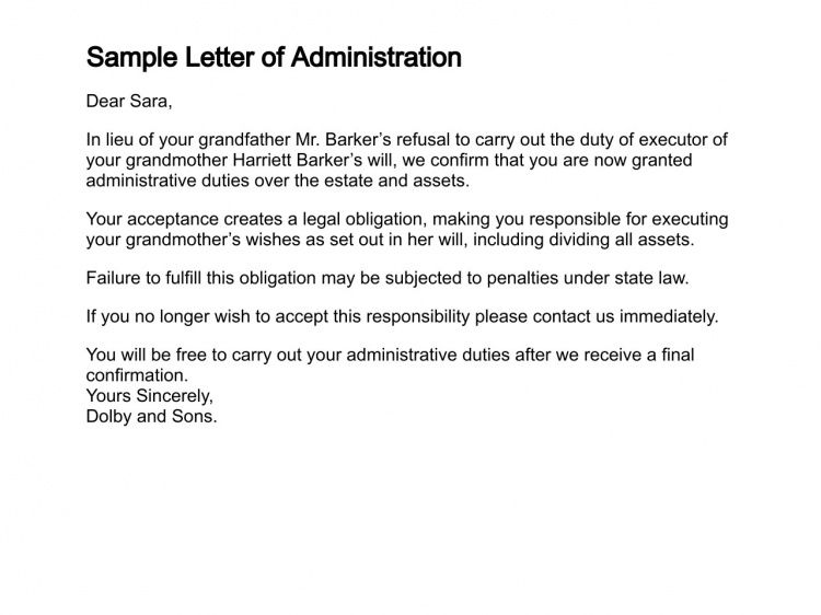 Letter of Administration