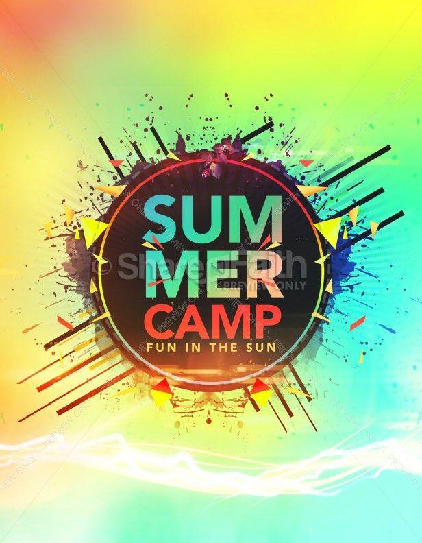 Summer Camp Fun in the Sun Church Flyer Template | Flyer Templates