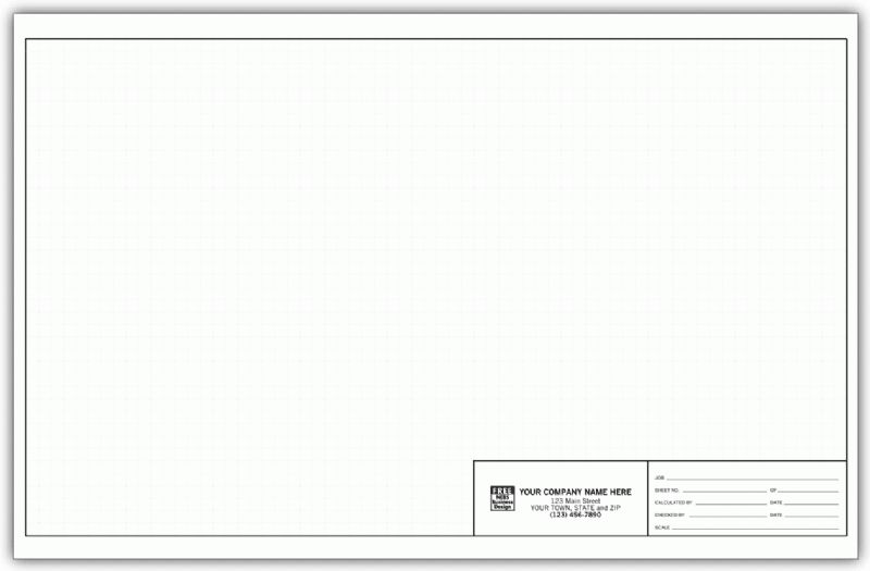 """Custom Engineering Graph Paper, 11"""" x 17"""" - Loose Sheets 