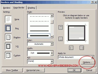 Hoover Web Design Blog » Solution for Microsoft Word Page Borders ...