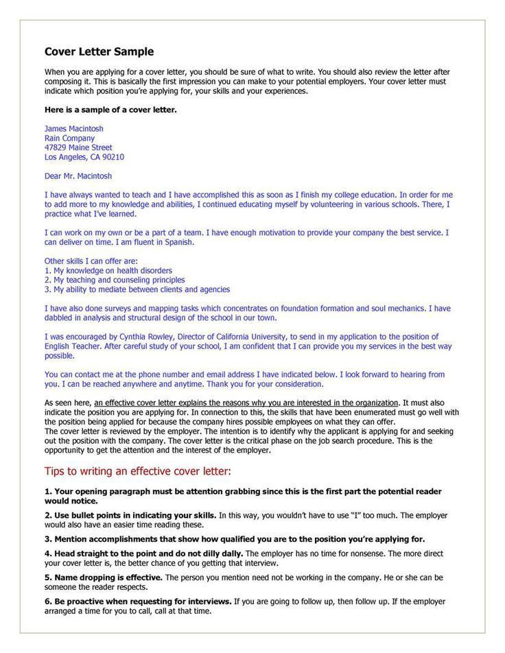 25 best Cover letters images on Pinterest | Resume cover letters ...