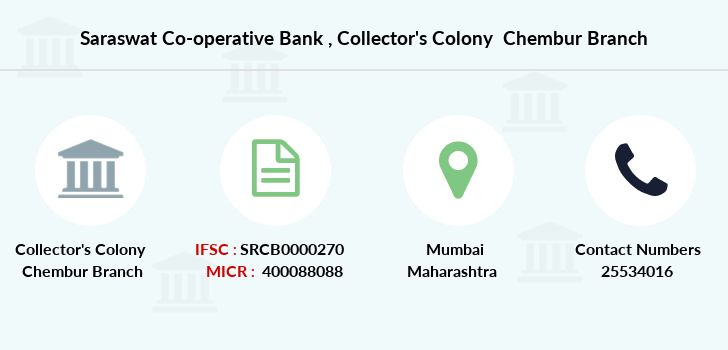 Saraswat Co-operative Bank Collector's Colony Chembur IFSC Code ...
