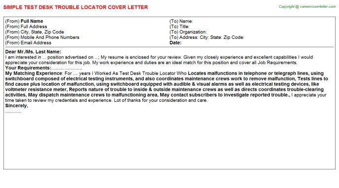 Utility Locator Technician Cover Letters