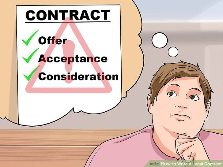 Lawyer-Approved Advice on How to Write a Legal Contract - wikiHow
